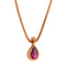 Pendant  Rose gold Rhodolite and Diamonds cne-0272/124
