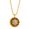 Pendants yellow gold Citrine and Diamonds Cnp-0026-35