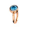 RING Rose GOLD  Blue Topaz lcd-3114