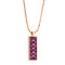 Pendant  RoseGold Rhodolite and Diamonds Cnp-0073-2