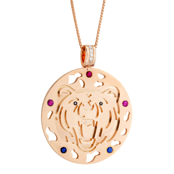 Pendant  Rose Gold Vermeil Tiger