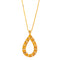 Pendant   Gold Citrine and Diamonds JP-0626-4