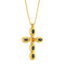 Pendants yellow gold Cross Citrine, Onyx and  Diamonds Cnp-0603-13