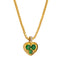 Pendant   Gold heart Travorit and Diamonds CNP-0357-8