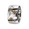 Ring Silver  Citrine flowersOreage Lcd-3094
