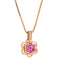 Pendant  RoseGold pink sapphire and Diamonds JP-0547-11