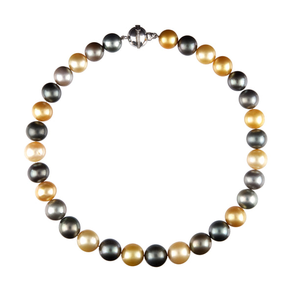 Golden and Grey South Sea Pearl Necklace