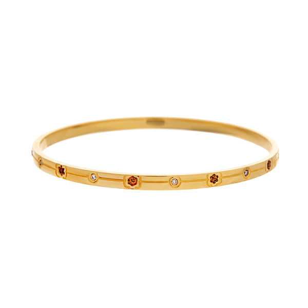 Bracelet YELLOW GOLD  OREAGE Citrine and Diamond