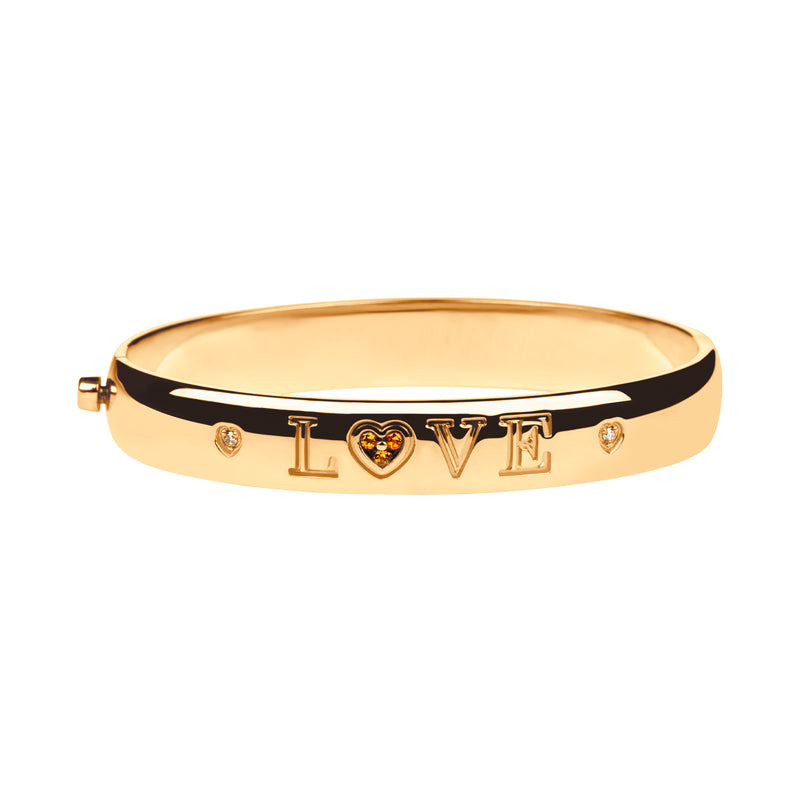 Pulsera love Oro Citrino y Diamantes