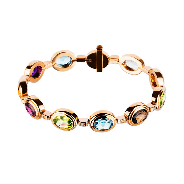 Bangle Rose Gold Multicolour Gems