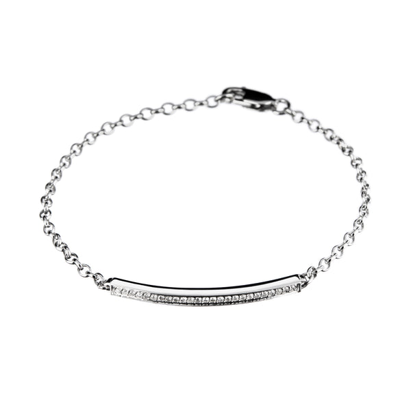 Bracelet white Silver Rhodium Diamond Cnb-0103/37