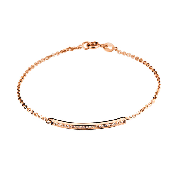 Bracelet Rose Gold diamond cnb-0103