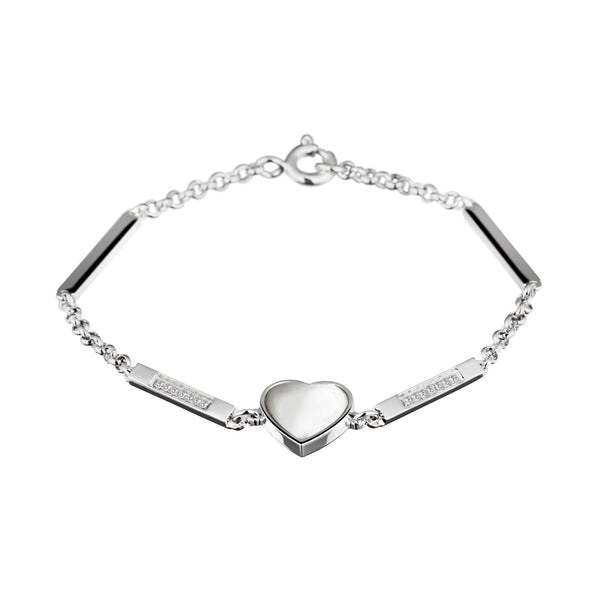 Bracelet Silver Pearl& Diamonds