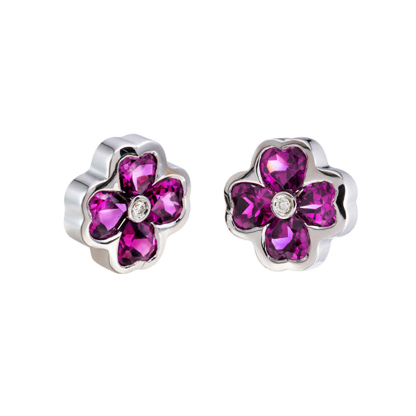 Earrings Rhodolite Diamond CNE-0031/32