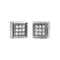 Earrings Silver Square Diamond