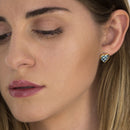 Earings  gold topaz and Diamonds Model Barcelona