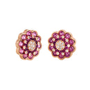 Earings Rose gold Rhodolite and Diamonds Cne-0044/2