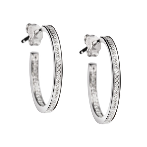 Earrings Silver Diamonds