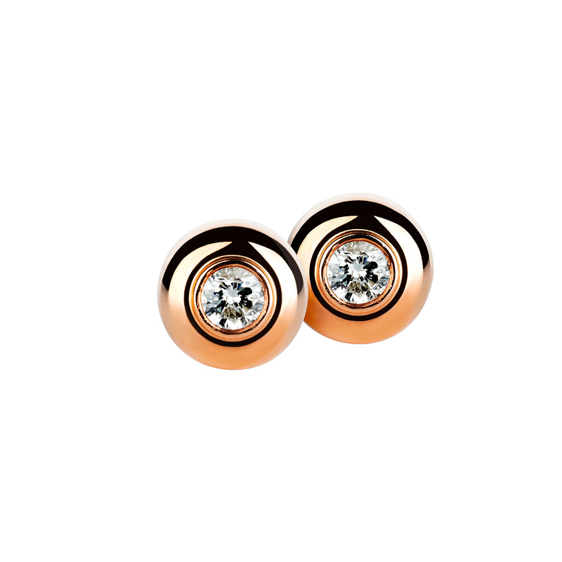 Earring Rose Gold Diamond