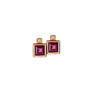 Earrings  Rose Gold Rhodolite and Diamonds Cne-0021/36