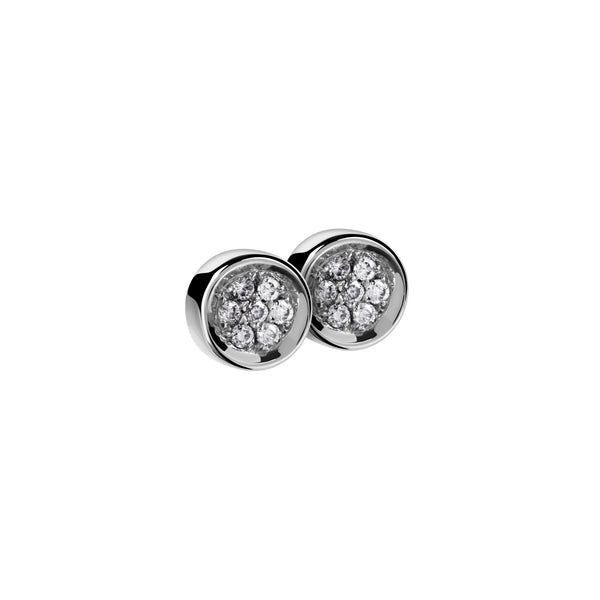 Earrings Silver Diamond