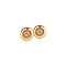Earrings Gold Round  Diamonds CNE-0049