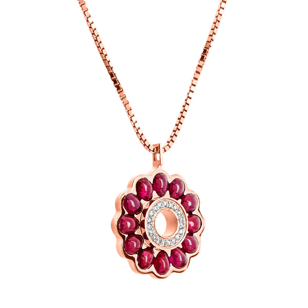 Pendant Rose gold Ruby and Diamonds CNP-0056/1