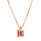 Pendant Rose GOLD  Rhodolite &DiamondCNP-0124/75