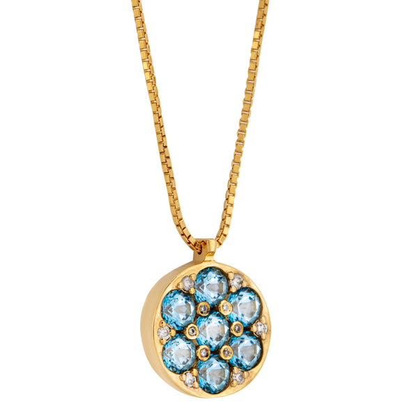 Pendant   Gold Topaz and Diamonds Cnp-0188/58