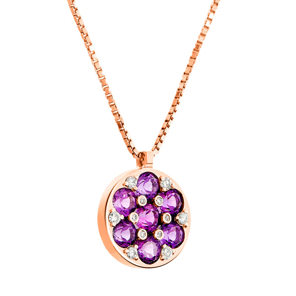 Pendant Yellow Gold Amethyst