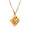 Pendant Gold Citrine And Diamonds