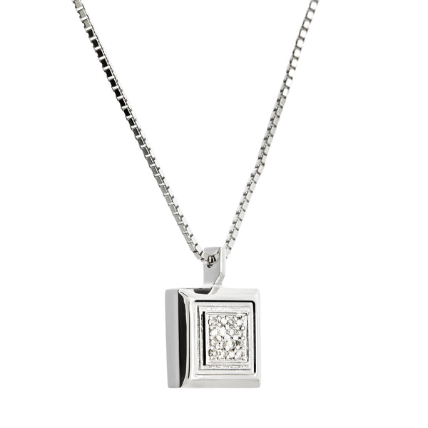 Pendant  White Silver Rhodium Diamond