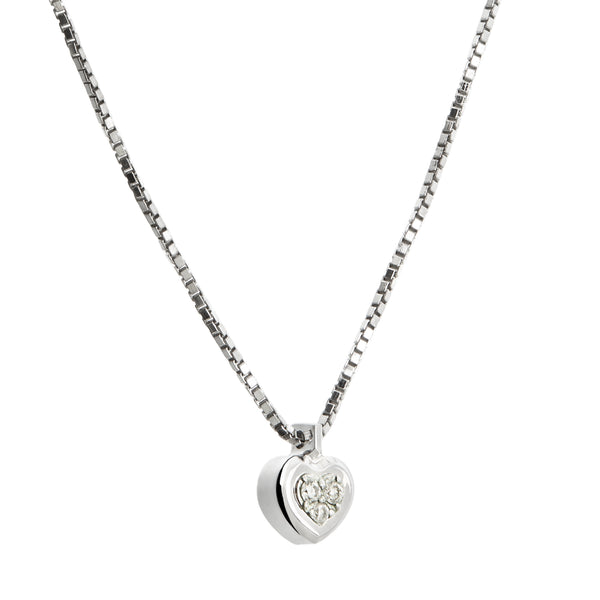 Pendant Heart Silver & Diamond