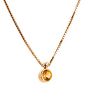 Pendant   Gold citrine and Diamonds Cnp-0270/55