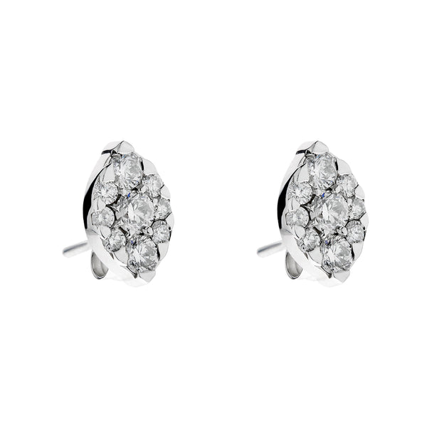 Earring gold diamond ca 20217