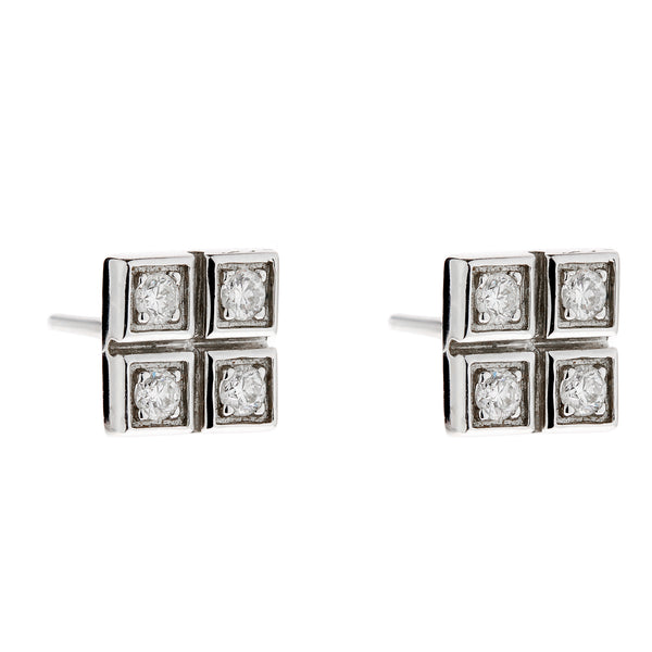 Earring gold diamond ca 18021