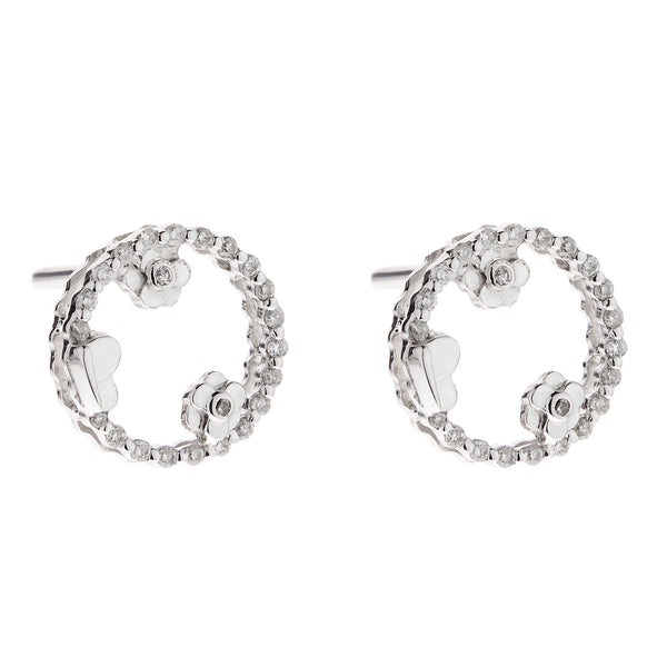 Earring gold diamond ca 23511