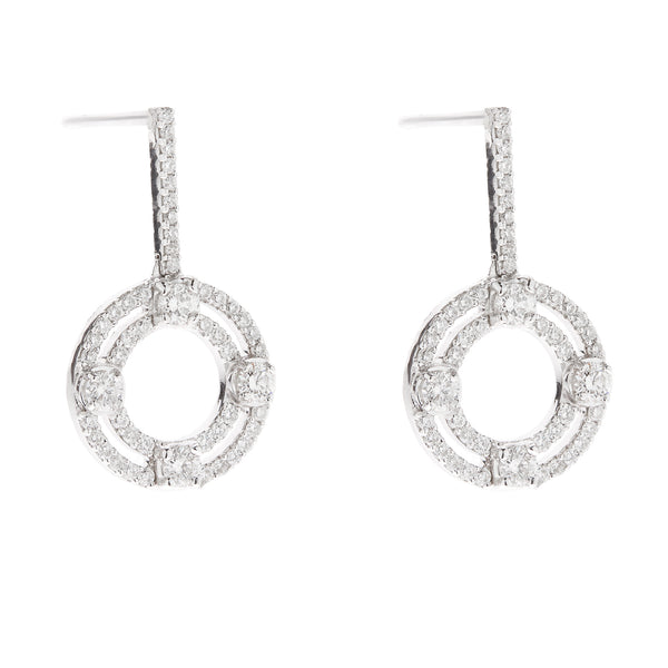 Earring gold diamond ca 24046