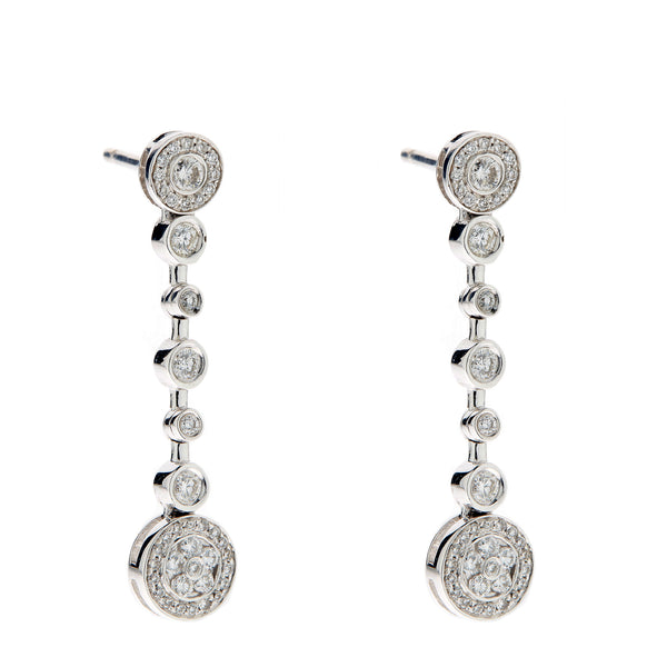 Earring gold diamond ca 21732