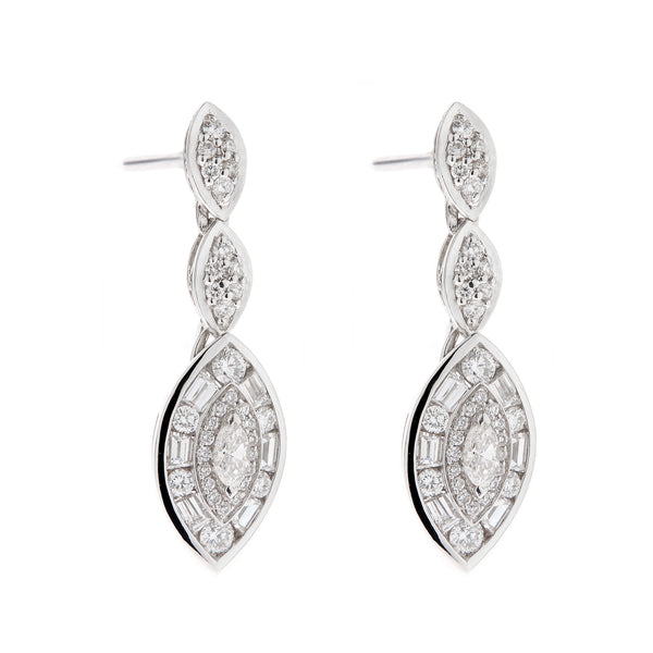 Earring gold diamond ca 14928