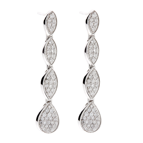 Earring gold diamond ca 12250-2
