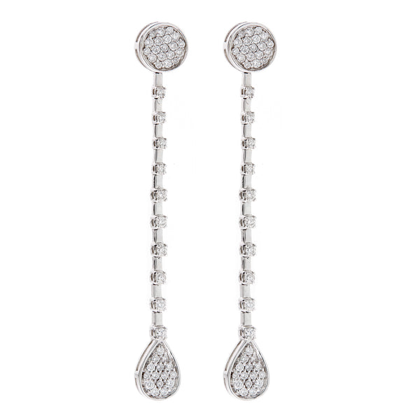 Earring gold diamond ca 16369