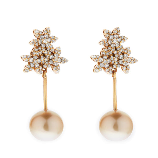Earring gold diamond ca 23896