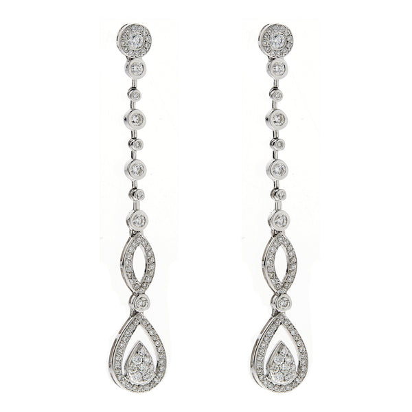 Earring gold diamond ca 18221