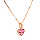 Pendant Heart Rose gold Rhodolite and Diamonds JA-0466/24