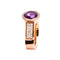 RING Rose GOLD Amethste  JR-1098-15