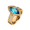 Ring Gold  Topaz Marquise and Diamonds JR-1103/17