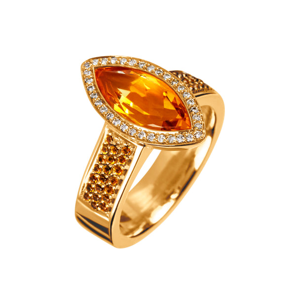 Ring Yellow Gold Citrine