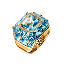 Ring Gold Topaz  and Diamonds JR-1107/2