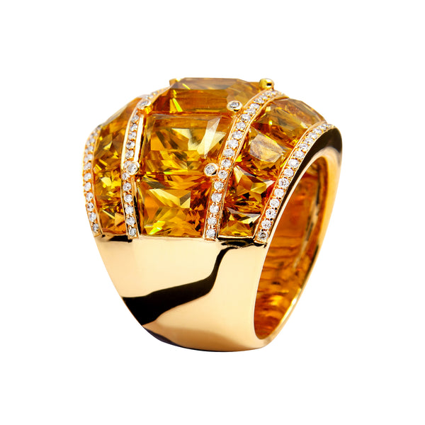 RING YELLOW GOLD CITRINE  JR-1122/13